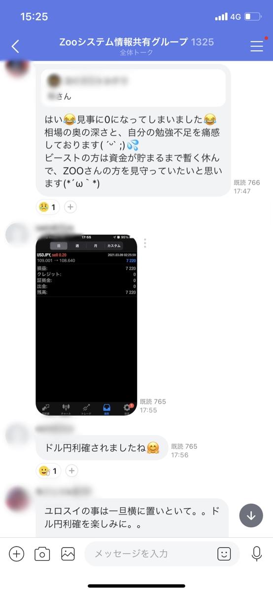 【収支報告】『ZOO(ズーシステム)』荒れた相場でも利益!頼みになるトレーダー監視!実績公開!【2021年3月10日】